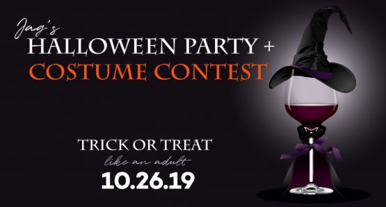 Jag's Steak is hosting a Halloween Party on October 26