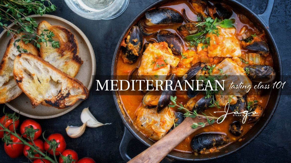 Jag's Steak and Seafood is hosting a Mediterranean Tasting class on March 28