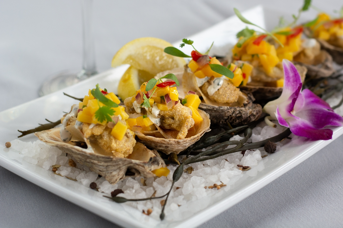 Fried Oysters with Mango Salsa