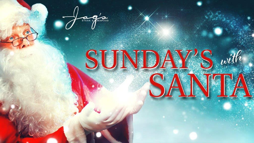 Santa visits Jag's on Sunday in December